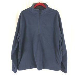Saddlebred Mens Fleece Pullover 1/2 Zip Navy Blue